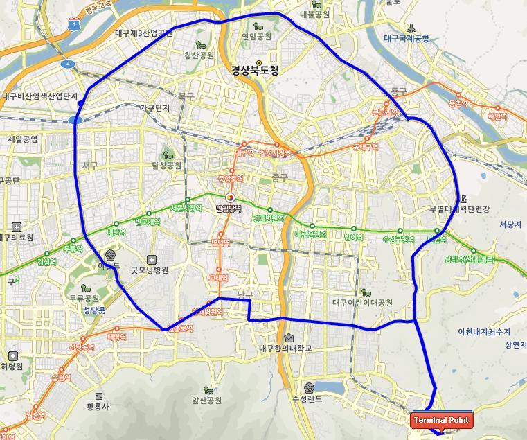 Daegu Bus Route Circular 2 OEISKI8L